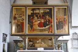 Reformation altar in the City Church of St. Mary in Wittenberg, by Lucas Cranach